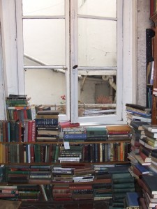 The upstairs library (a.k.a. where I'd like to live forever) at Shakespeare and Co. in Paris.