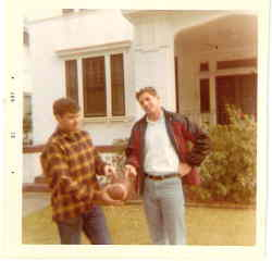 My father and uncle explain that this is a football in the front yard of their home on Carrollton Ave.